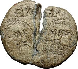 reverse: Italy .  Niccolò V (1447-1455), Tommaso Parentuccelli. PB Bulla, Rome mint