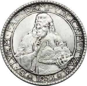 reverse: San Marino. AR 20 Lire, 1933