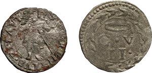 reverse: Italy. .  Guidobaldo II della Rovere (1538-1574). Lot of 2 Quattrinii, Urbino and Pesaro mint