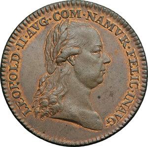 obverse: Austria.  Leopold II (1790-1792).. AE Medal, Vienna mint, 1791