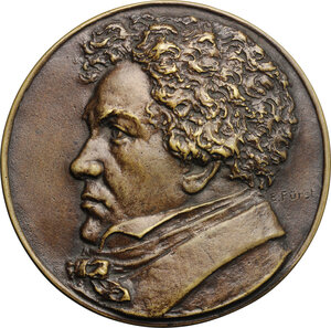 obverse: Austria.  Ludwig van Beethoven (1770-1827). Medal 1927, celebrating 100th anniversary of the death
