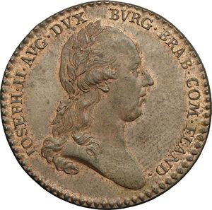 obverse: Belgium.  Joseph II (1765-1790).. AE Jeton, Brabant and Flandre, 1781