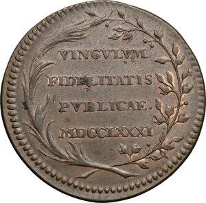 reverse: Belgium.  Joseph II (1765-1790).. AE Jeton, Brabant and Flandre, 1781