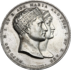 obverse: France.  Napoleon I (1805-1814), Emperor.. Medal for the marriage of Napoleon I and Maria Luigia di Parma, 1 April 1810