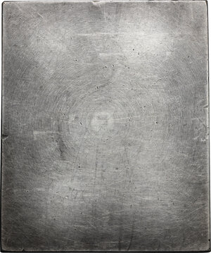 reverse: France.  A.E. Jacoulet (1830-1909). Silvered AE Rectangular Plaque 70x58, 1909