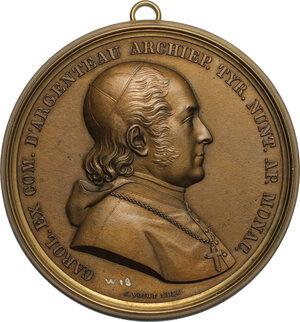 obverse: Germany.  Karl von Argenteau (1787-1879), Archbishop and Nuntius in Munich. Unifacie medal 1836