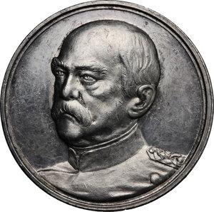 obverse: Germany.  Otto von Bismarck (1815-1898).. AR Medal, 1895