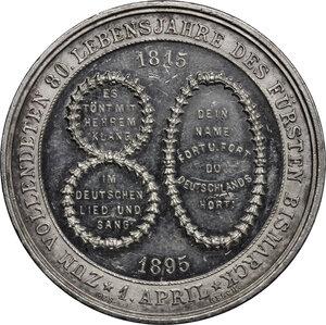 reverse: Germany.  Otto von Bismarck (1815-1898).. AR Medal, 1895