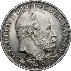 obverse: Germany.  Wilhelm I (1861-1888).. AR Medal, struck under Wilhelm II, 1897