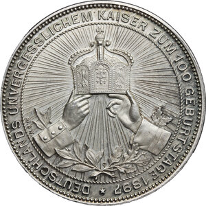 reverse: Germany.  Wilhelm I (1861-1888).. AR Medal, struck under Wilhelm II, 1897