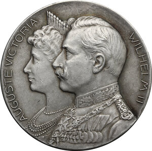 obverse: Germany.  Wilhelm II (1888-1918).. AR Medal, Stuttgart mint, 1906