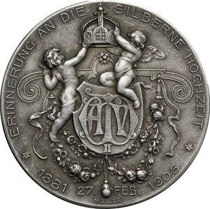 reverse: Germany.  Wilhelm II (1888-1918).. AR Medal, Stuttgart mint, 1906