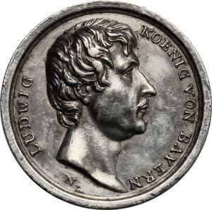 obverse: Germany. Bayern..  Ludwig I (1825-1848).. AR Medal, 1825