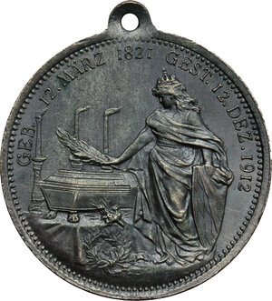 reverse: Germany. Bayern..  Luitpold, Prince regent (1886-1912).. Tin Medal, Nuremberg mint, 1912