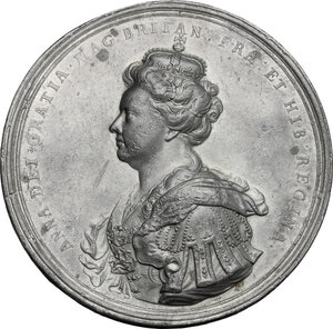 obverse: Great Britain.  Anne Stuart (1665-1714), queen of Great Britain. . Pewter \Union of Scotland and England\