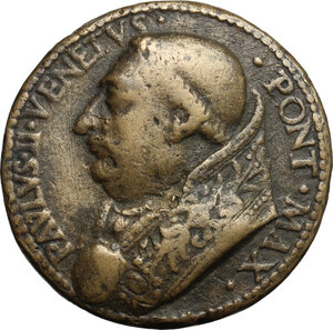obverse: Italy..  Paolo II (1464-1471), Pietro Barbo. Medal, Rome mint, 1469