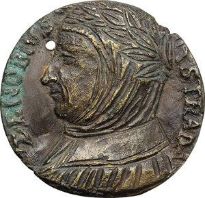 obverse: Italy..  Zanobi da Strada (1312 -1361),  Florentine translator, scholar and correspondent of Petrarch and a friend of Giovanni Boccaccio.. Uniface Medal