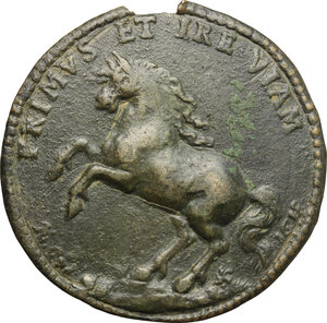 reverse: Italy..  Peter Gyron (1579-1624), Duke of Ossuna, Count of Urena, Viceroy of Sicily.. Cast Bronze Portrait Medal, 1618
