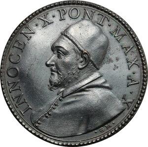 obverse: Italy..  Innocence X (1644-1655), Giovanni Battista Pamphili.. AE Medal, 1653