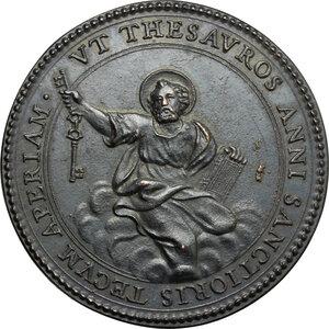 reverse: Italy..  Innocence X (1644-1655), Giovanni Battista Pamphili.. AE Medal, 1653