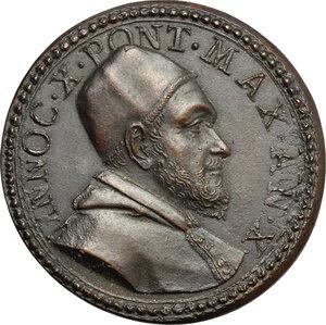 obverse: Italy..  Innocence X (1644-1655), Giovanni Battista Pamphili.. AE Medal, 1654