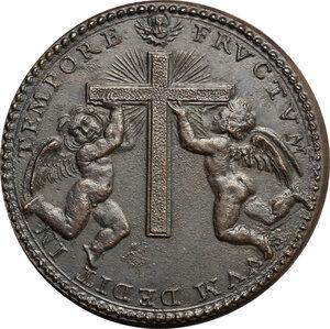 reverse: Italy..  Innocence X (1644-1655), Giovanni Battista Pamphili.. AE Medal, 1654