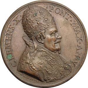 obverse: Italy..  Clemens X (1670-1676), Emilio Bonaventura Altieri.. AE Medal, 1674