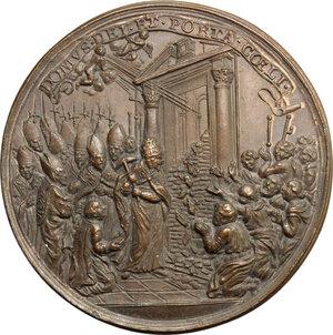 reverse: Italy..  Clemens X (1670-1676), Emilio Bonaventura Altieri.. AE Medal, 1674