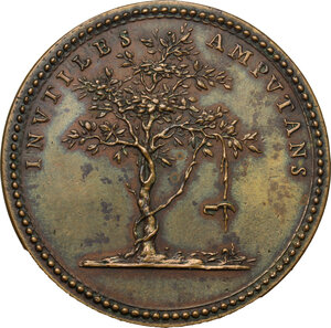 reverse: Italy..  Giovanni Girolamo Sbaraglia (1641-1710), Doctor and Anatomist. Struck medal for the death, Bologna mint