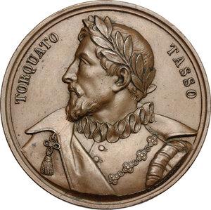 obverse: Italy..  Torquato Tasso (1544–1595), poet and intellectual.. Medal, Ferrara mint, 1834