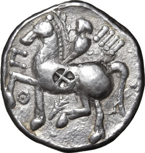 reverse: Celtic, Eastern Europe. AR Tetradrachm, imitating Philip II, 3rd century BC