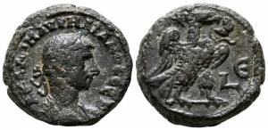 obverse: Aurelianus (270-275). Egypt, Alexandria. Mi Tetradramma (21 mm. - 10.24 gr.). qBB. NC.