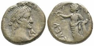 obverse: Galba (67/68). Egitto, Alessandria. AR Tetradramma (24mm. - 12,21gr.). D.\: [...]ΟΥΛΠ ΓΑΛΒΑ Κ[...], testa laureata a destra, LA (data) sotto il mento. R.\: ΕΛΕΥ-ΘΕΡΙΑ, Eleutheria in piedi a sinistra, poggia gomito sinistro su colonna, con corona e scettro, a sinistra, simpulum. Dattari (Savio) 306. RPC I, 5327. qBB. R2. Rara!