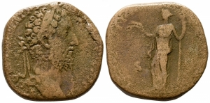 obverse: Commodus (180-192), Roma. AE Sestertius (28 mm. - 18.38 gr.). MB.