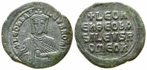 obverse: Leo VI (886-912). Costantinopoli. AE Follis (29mm. - 8,35gr.). BB+.