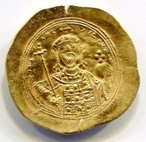 obverse: Impero Bizantino. Costantino IX (1042-1055), Costantinopoli. Au Histamenon (4,36 gr. - 27,80 mm.). R.\: +IhS XIS REX REGNAmEM.Ratto 1970 (Cost VIII). Sear 1830. SPL. NC. Colpetto al rovescio.