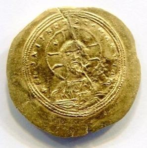 reverse: Impero Bizantino. Costantino IX (1042-1055), Costantinopoli. Au Histamenon (4,36 gr. - 27,80 mm.). R.\: +IhS XIS REX REGNAmEM.Ratto 1970 (Cost VIII). Sear 1830. SPL. NC. Colpetto al rovescio.