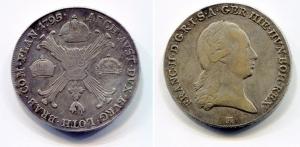 obverse: AUSTRIA. Francesco II d'Asburgo Lorena (1792-1800). Crocione, scudo delle corone 1795 H. MB/qBB.