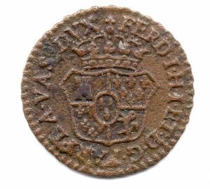 reverse: Ducato di PARMA, PIACENZA e GUASTALLA. Ferdinando I. 1765-1802. 1 Sesino 1786. Cu.