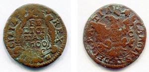 obverse: Regno di Sicilia. Palermo, Carlo II. Grano