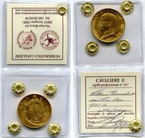 obverse: Regno d'Italia.Vittorio Emanuele 3°(1900-1943). Lire 100 1931 IXItalia su Prora. Pag. 129, Gig. 9. Au. qFDC/FDC.Sigillata.