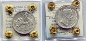 obverse: Regno d'Italia.Vittorio Emanuele 3°(1900-1943). 2 lire 1917
