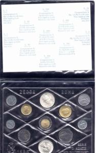 obverse: Italia. 1988. Folder Ufficilale della Zecca di Stato. BOSCO. 11 Valori, FDC Assoluto. (Val. Cat.: 165 €)