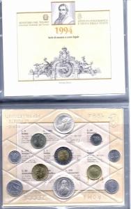 obverse: Italia. 1994. Folder Ufficilale della Zecca di Stato. TINTORETTO. 12 Valori, FDC Assoluto. (Val. Cat.: 130 €)