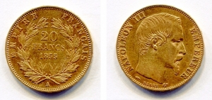 obverse: Francia. Napoleone III. 20 Francs 1955. AU (6,45 gr.). Discreta.