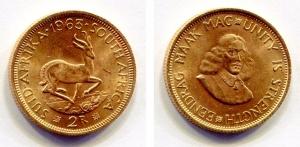 obverse: SUD AFRICA. 2 rand 1962. AU (8 gr). Ottima conservazione.