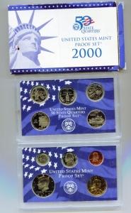 obverse: USA. Folder del 2000, Proof Set. Molto interessante e belle monete!
