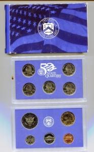 reverse: USA. Folder del 2000, Proof Set. Molto interessante e belle monete!