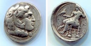 obverse: Re di Macedonia. Alessandro III