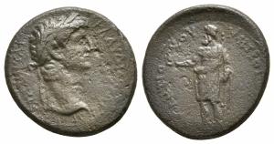obverse: Claudio (41-54). Phrygia, Aizanis. AE Bronzo (19 mm. - 4,02 gr.). qBB. R1.